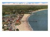 Aerial View of Santa Cruz Beach and Pier, California