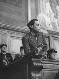 Marcel Petiot Speaking at His Murder Trial
