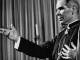 Reverend Fulton J. Sheen During One of His Preachings
