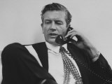 Mayor John V. Lindsay Talking on the Telephone in His Office