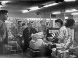 Customers Inside Grocery Store