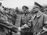 Reich Minister Rudolf Hess Reviewing and Shaking Hands with German Troops at the Front