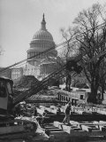 View of the Renovation of the New Capitol Building