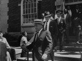 Arlington School Board Members Leaving a Federal Court Re: School Integration