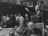 Harold Macmillan and Wife Campaigning; in Car