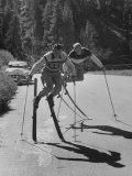 Men Roller Skiing in the Streets