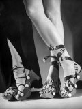 Women Wearing Unrationed Shoe Soles During the War