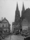Damaged Cologne Cathedral
