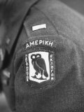 Closeup of Patch Being Worn by Us Members of the Allied Mission for Observing Greek Elections