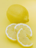 Entire and Sliced Lemons (Citrus Limon)