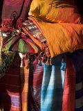 Fabrics, Essaouira, Morocco, North Africa, Africa