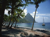 Pitons, St. Lucia, Windward Islands, West Indies, Caribbean, Central America