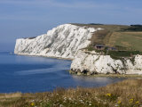 Tennyson Down, Black Rock and Highdown Cliffs from Freshwater Bay, Isle of Wight, England, UK