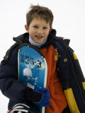 Portrait of Young Boy Snowboarder Model Release 2612, New York, USA