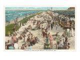 Beach Crowd, Savannah Beach, Georgia