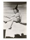 Halloween, Woman on Broomstick