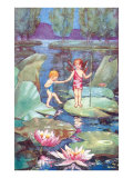 Fairies on Lily Pond