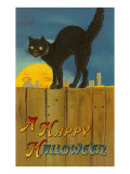 A Happy Halloween, Cat on Fence