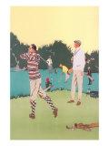 Vintage Golfing Scene