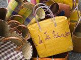 Reunion-made handbags, Seafront Market, St-Paul, Reunion Island, France