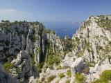 Calanque D'En Vau Cliffs Near Cassis