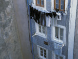 Laundry Hanging Outside Windows in the Alfama Section of Lisbon