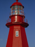 Brightly Painted, Red Lighthouse in Quebec