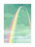 Rainbow in Bright Sky