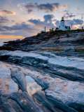 Maine, Pemaquid Peninsular, Pemaquid Point Lighthouse, USA