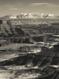 Utah, Moab, Canyonlands National Park, Buck Canyon Overlook, Winter, USA