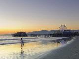 California, Los Angeles, Santa Monica Beach, Pier and Ferris Wheel, USA