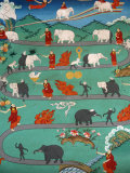 White Elephant Tale at Kopan Monastery, Kathmandu, Nepal, Asia