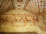 Etruscan Tombs at Tarquinia, Italy, 6th century BC