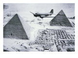C-47 Flying over Egypt's Pyramids, 1943