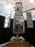 The Hubble Space Telescope Is Released from the Cargo Bay of Space Shuttle Atlantis