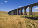 Ribblehead Railway Viaduct on Settle to Carlisle Rail Route, Yorkshire Dales National Park, England