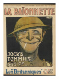 Caricature of a 'tommy', as Seen by the French