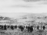 German Infantry Crossing a Field During World War I