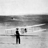 Orville Wright and His New Glider