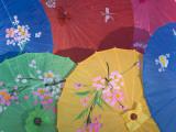 China, Colorful Silk Umbrellas
