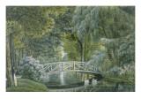 """""""Malmaison.Vue du pont de bois sur la riviere a la gauche du chateau"""""""