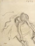 Danseuse assise, essayant ses pointes