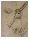 Danseuse au bouquet et etude de bras