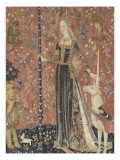 Tenture de la Dame a la Licorne : le Toucher