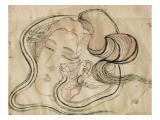 Tete de femme au serpent