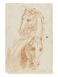 Deux etudes de tete de cheval