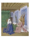 Le Livre d'Heures d'Etienne Chevalier : Les Heures de la Vierge, La seconde Annonciation