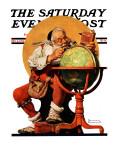 """""Santa at the Globe"""" Saturday Evening Post Cover, December 4,1926"