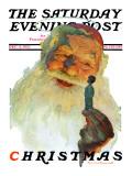 """""""""""Christmas, 1927"""""""" (King Kong Santa) Saturday Evening Post Cover, December 3,1927"""