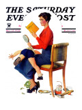 """""""""""Child Psychology"""""""" or """"""""Spanking"""""""" Saturday Evening Post Cover, November 25,1933"""